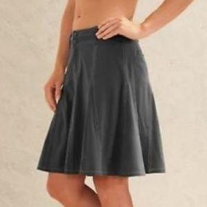 Athleta Whatever Gray Pleated Skort Skirt Size 14